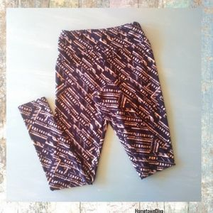 Lularoe Leggings Aztec print Black Tan